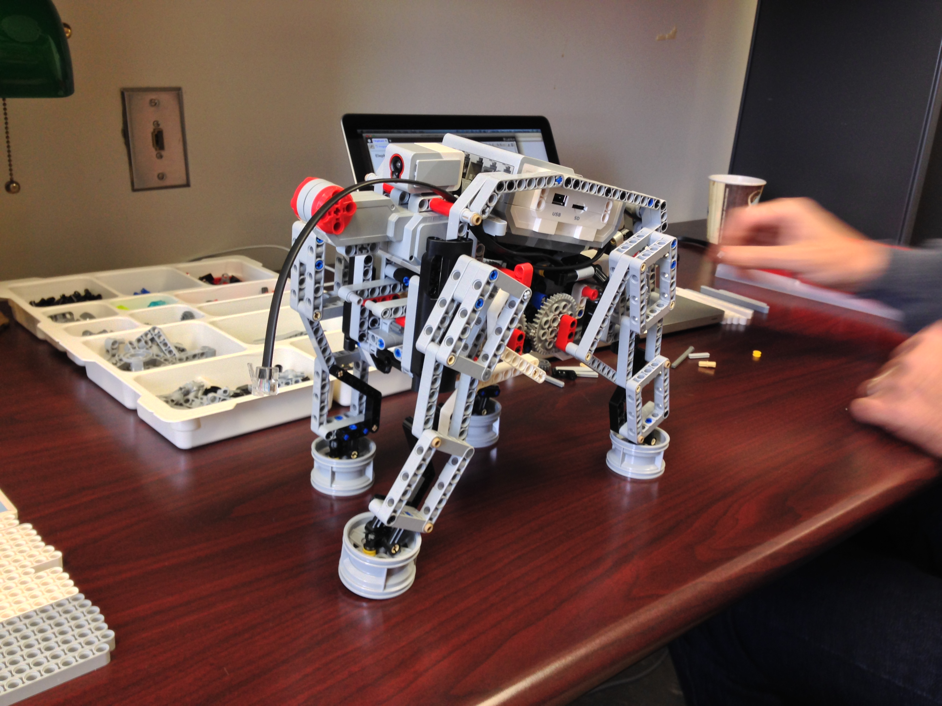 The New EV3 Bot, in Elephant Form! | Haslett Robotics Club