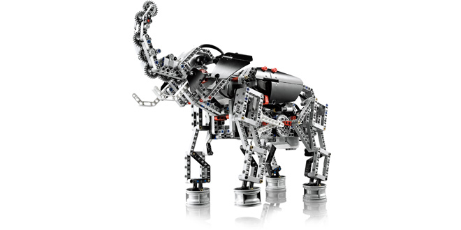 the new ev3 bot  in elephant form